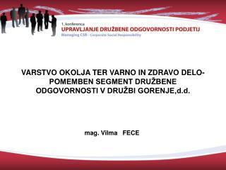 mag. Vilma   FECE