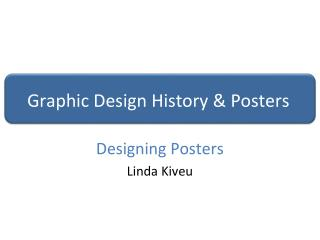 Graphic Design History & Posters