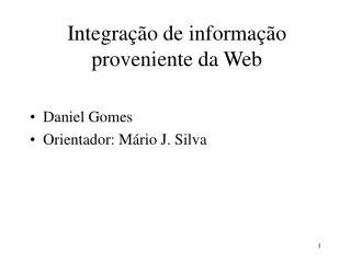 Integração de informação proveniente da Web