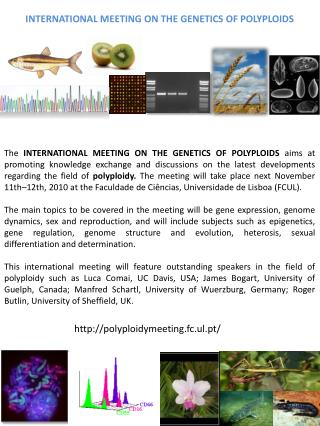 International meeting on the Genetics of  polyploids