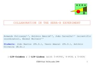 COLLABORATION IN THE HERA-B EXPERIMENT