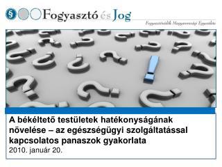 A magyar békéltetés új kihívásai:  Békéltetés vagy jogalkalmazás?