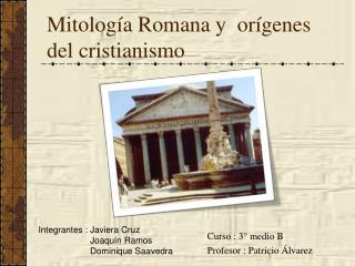 Mitolog�a Romana y  or�genes del cristianismo