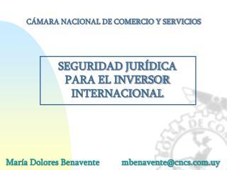 María Dolores Benavente          mbenavente@cncs.uy