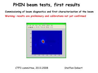 PHIN beam tests, first results