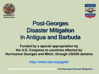 Post-Georges Disaster Mitigation in Antigua and Barbuda