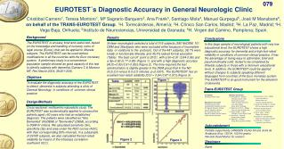 EUROTEST´s Diagnostic Accuracy in General Neurologic Clinic