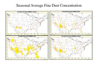 Seasonal Average Fine Dust Concentration