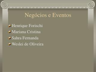 Negócios e Eventos