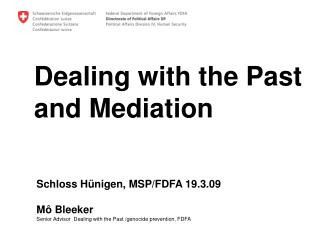Dealing with the Past  and Mediation