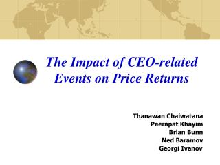 The Impact of CEO-related Events on Price Returns