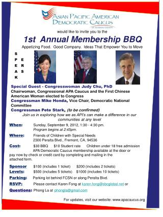 would like to invite you to the 1st  Annual Membership BBQ