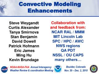NOAA-NASA-FAA   Annual Interagency  Weather Review & coordination Meeting