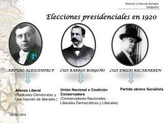 Elecciones presidenciales en 1920