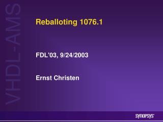 Reballoting 1076.1