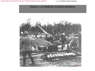 DEPARTAMENTO DE GEOGRAF A E HISTORIA. PROFESOR: FRANCISCO RUIZ CA ESTRO