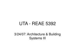 UTA - REAE 5392