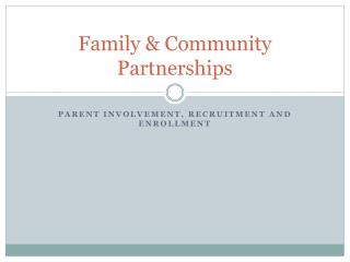 Family & Community Partnerships