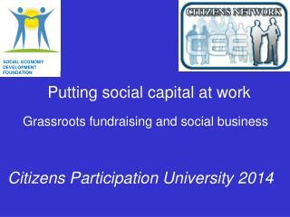 Putting social capital at work