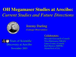 OH Megamaser Studies at Arecibo: Current Studies and Future Directions