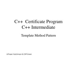 C++  Certificate Program C++ Intermediate