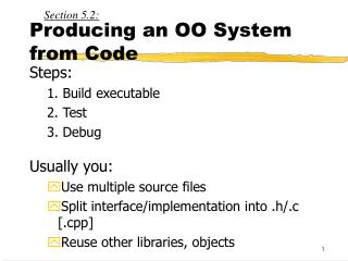 Producing an OO System from Code