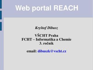 Web portal REACH