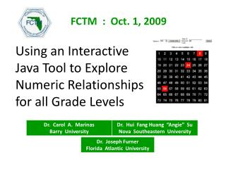 Using an Interactive Java Tool to Explore Numeric Relationships for all Grade Levels