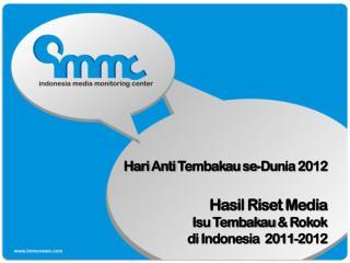 Hari  Anti  Tembakau se - Dunia 2012 Hasil Riset Media  Isu Tembakau  &  Rokok