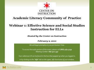 Academic Literacy Community of  Practice