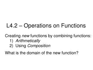 L4.2 – Operations on Functions