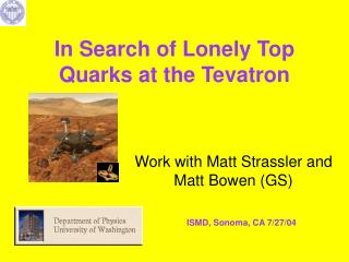 In Search of Lonely Top Quarks at the Tevatron