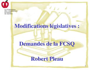 Modifications législatives :