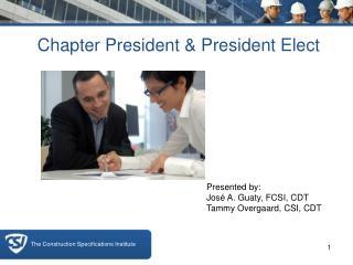 Chapter President & President Elect