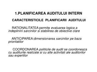 1.PLANIFICAREA AUDITULUI INTERN