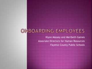 Onboarding employees