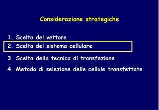 Considerazione strategiche