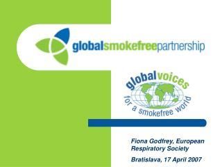 Fiona Godfrey, European Respiratory Society Bratislava, 17 April 2007