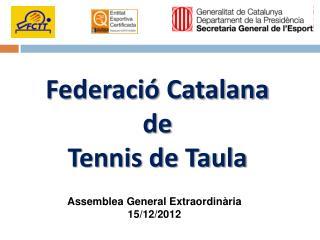 Federació Catalana de Tennis de Taula