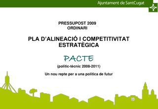 PRESSUPOST 2009 ORDINARI