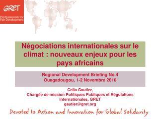 Négociations internationales sur le climat : nouveaux enjeux pour les pays africains