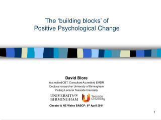 The  building blocks  of  Positive Psychological Change