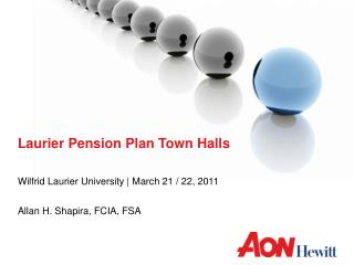Laurier Pension Plan Town Halls