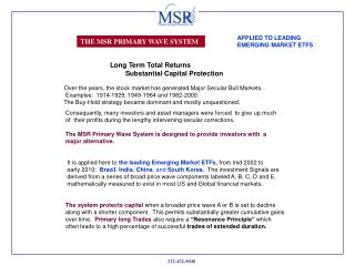 THE MSR PRIMARY WAVE SYSTEM