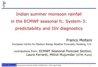 Indian summer monsoon rainfall