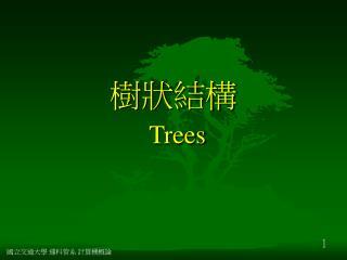 樹狀結構  Trees