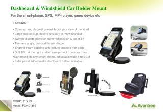 Dashboard & Windshield Car Holder Mount