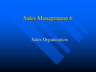 Sales Management 6