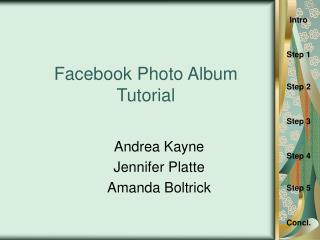 Facebook Photo Album Tutorial