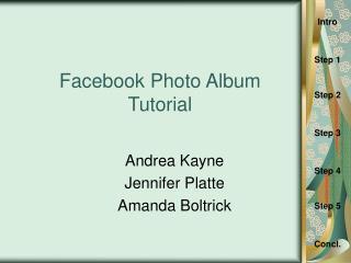 Facebook Photo Album Tutorial